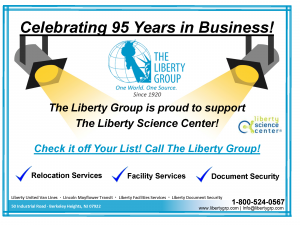Liberty Group ad half pg for Liberty Science Center